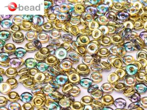 O-00030-98536 Crystal Golden Rainbow O bead ® 5 gram-0