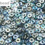 O-00030-98537 Crystal Graphite Rainbow O bead ®  5 gram-0