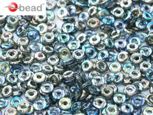 O-00030-98537 Crystal Graphite Rainbow O bead ® 5 gram-0