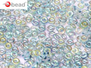 O-00030-98538 Crystal Blue Rainbow O bead ® 5 gram-0