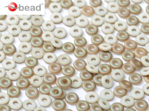 O-03000-22571 Chalk White Celsian Matted O bead ® 5 gram-0