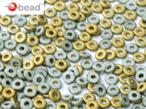 O-03000-26471 Chalk White Amber Matted O bead ® 5 gram-0