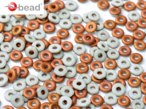 O-03000-27237 Chalk White Sunset Matted O bead ® 5 gram-0