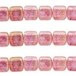 CMT-00030LP CzechMate Tile Luster Transparent Topaz Pink 22 Pc.-0