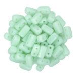 BRI-63100 Opaque Pale Jade CzechMate Brick beads 40 Pc.-0