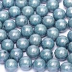 04-R-03000-14464   Chalk White  Blue Luster Round 4 mm. 90 pc.-0