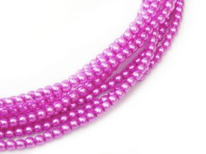 08-132-24276 Hot Pink Glass Pearl 16 Pc.-0