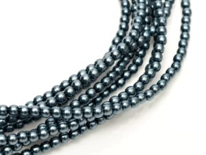 08-132-24648 Dark Cyan Glass Pearl 16 Pc.-0