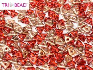 TRI-90090-27101 Red Capri Gold Tri-Beads 5 gram-0