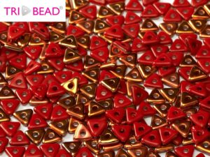 TRI-93200-27137 Opaque Red Sunset Tri-Beads 5 gram-0