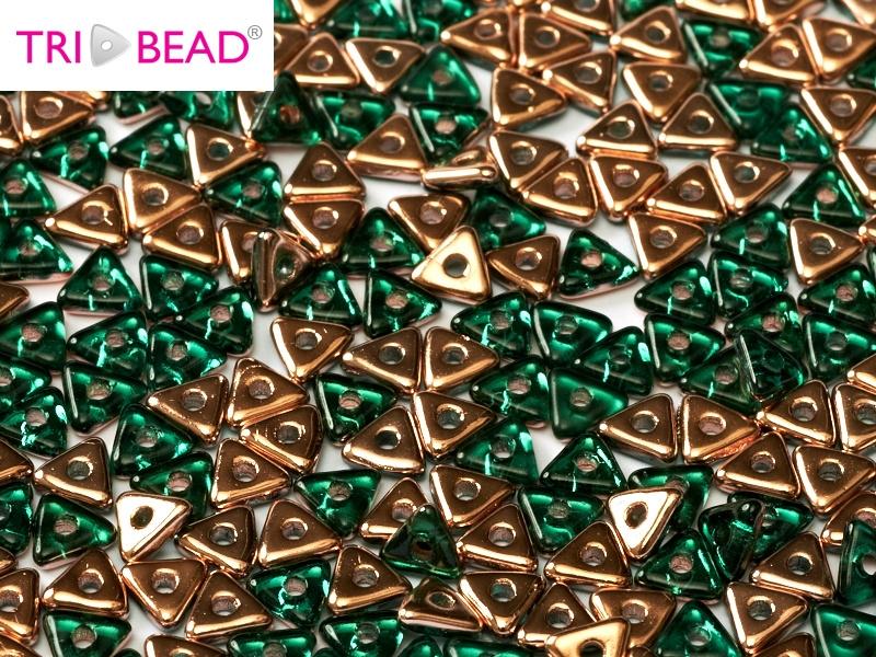 TRI-50730-27101 Emerald Capri Gold Tri-Beads 5 gram-0