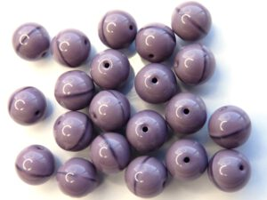 0080236 Opaque Dark Amethyst Round 10 mm. 15 Pc.-0