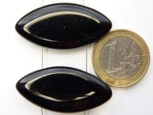 0010032 Zwart Ovaal verdeler met 2 gaten 2 Pc.-0
