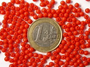 03-R-93200 Opaque Red round 3 mm. 150 Pc.-0