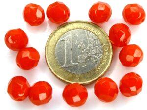 0050232 Opal/Transparent Red facet 10 Pc.-0