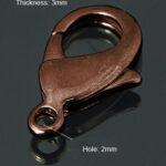 0160010 Karabijnslotje Red Copper 15mm. 5 Pc.-0