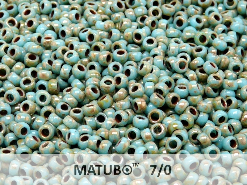 MTB-07-63030-43400 MATUBO™ Opaque Blue Turquoise Silver Picasso-0