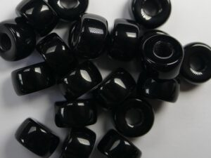 0010026 Zwarte Roller Bead 25 Pc.-0