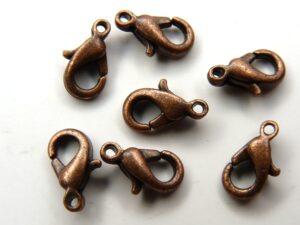 0160008 Karabijnslotjes Copper eerste keus 10 mm. 7 Pc.-0