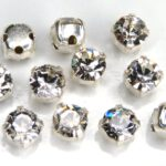 MCC-SS20-SLV-00030 MC-Chatons in Setting Crystal in Silver 10 Pc.-0