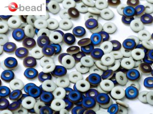 O-03000-22271 Chalk White Azuro Matted O bead ® 5 gram-0