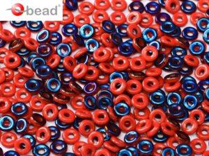 O-93200-22201 Opaque Red Azuro O bead ® 5 gram.-0