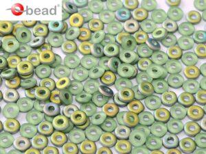 O-50510-28171 Peridot Vitrail Matted O bead ® 5 gram.-0