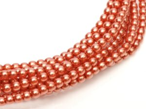 04-132-19001-24244 Shiny Salmon Glass Pearl 120 Pc.-0