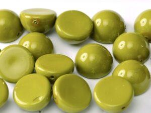 DO-S-48565 Dome Beads Fiesta Pea Green 8 Pc.-0