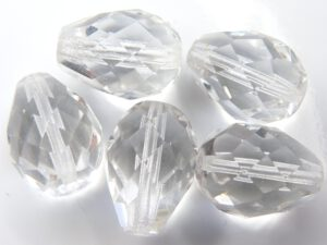 0150115 Crystal peervromig facet 16 x 12 mm. 4 Pc.-0