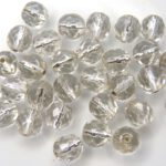 0150116 Silverlined Crystal facet 8 mm. 15 Pc.-0