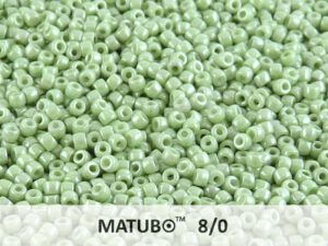 MTB-08-03000-14457 Matubo™ Opaque White Light Green Luster-0