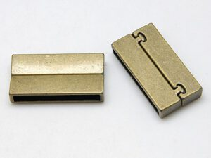 0160019 Magnetic Glue-in Clasp, Rectangle Antique Bronze -0