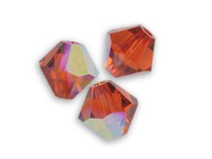SW-03-INRE 5301 Indian Red AB Swarovski Bicone 3 mm 40 Pc.-0