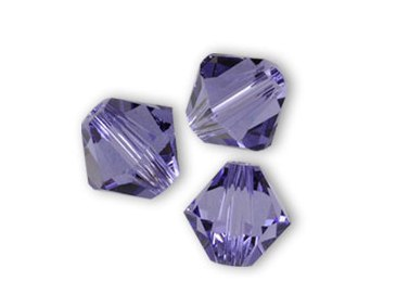 SW-03-TAN 5328 Tanzanite Swarovski Bicone 3 mm 40 Pc.-0