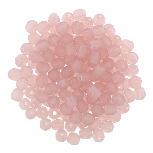 0070329 Matte Milky Pink Facet 2,5 mm. 60 Pc.-0