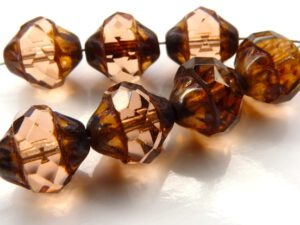 0070368 Rosaline Picasso Facet Turbine Beads 7 Pc.-0