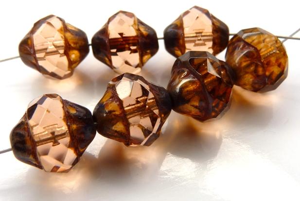 0070368 Rosaline Picasso Facet Turbine Beads 7 Pc.-0
