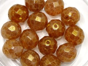 0070394 White Opal Red Luster facet 10 mm. 5 Pc.-0
