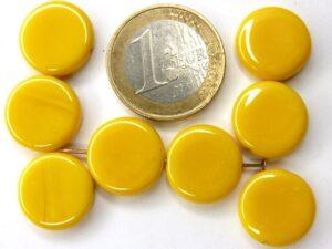 0130005 Geel ronde schijf. 7 Pc.-0