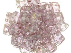 CMQT-00030-15495 CzechMates QuadraTile Transparent Topaz/Pink Luster-0