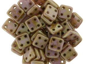 CMQT-02010-65491 CzechMates QuadraTile Opaque Roze Gold/Topaz-0