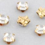SS20-00030-Gold Extra Chaton Rose Montees Crystal Gold 15 Pc.-0