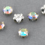 SS20-00030-28701-Silver Extra Chaton Rose Montees Crystal AB Silver 15 Pc.-0
