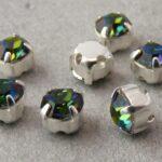 MCC-SS20-SLV-00030-28136 MC-Chatons Crystal Vitrail Medium in Silver Setting10 Pc.-0
