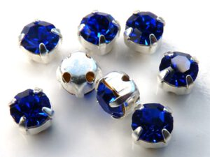 MCC-SS20-SLV-30050 MC-Chatons Sapphire in Silver Setting 10 Pc.-0