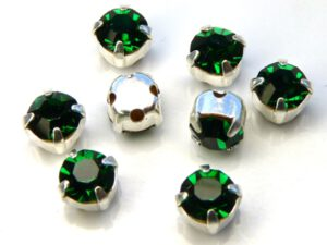 MCC-SS20-SLV-50730 MC-Chatons Emerald in Silver Setting 10 Pc.-0