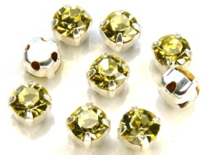 MCC-SS20-SLV-80100 MC-Chatons Jonquil in Silver Setting 10 Pc.-0