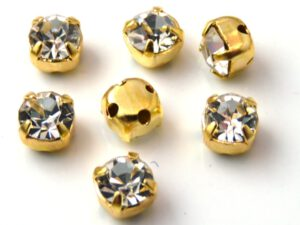 MCC-SS20-GLD-00030 MC-Chatons Crystal in Gold Setting 10 Pc.-0