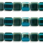 CMT-60150W  CzechMates Tile Bead Twilight-Capri Blue 20 Pc.-0